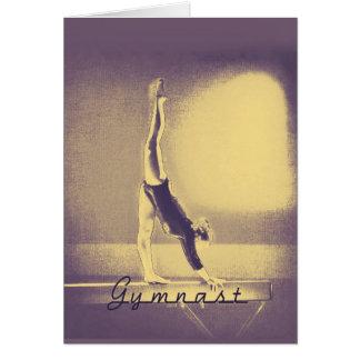 """Gymnast-""""viel Glück"""" Grußkarte"""