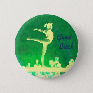 Gymnast-viel Glückknopf Runder Button 5,7 Cm