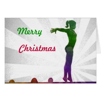 Gymnast-Weihnachtskarte Karte