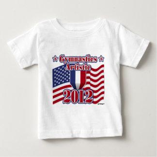 Gymnastik 2012 künstlerisch baby t-shirt