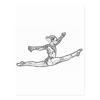 Gymnastik 2 postkarte