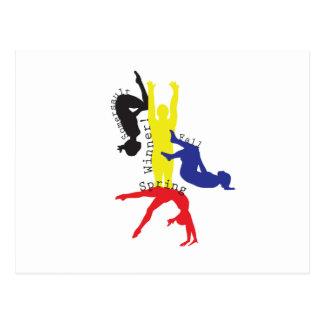 Gymnastik 365 postkarte