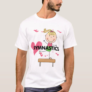 GYMNASTIK - blonde Mädchen-Schwebebalken-T-Shirts T-Shirt