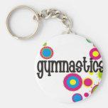Gymnastik-coole Polka-Punkte Standard Runder Schlüsselanhänger
