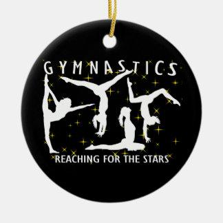 Gymnastik, die für die Sterne erreicht Keramik Ornament