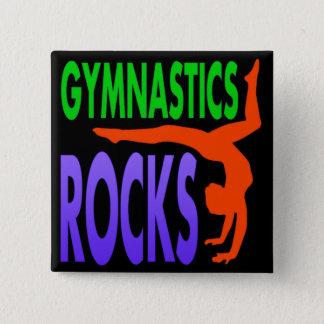 Gymnastik-Felsen Quadratischer Button 5,1 Cm