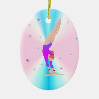 Gymnastik - Fliegen-Mädchen-Verzierung Keramik Ornament