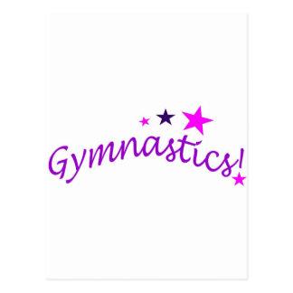 Gymnastik gewölbt mit Sternen Postkarte