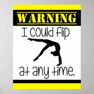 Gymnastik I konnte Plakat jederzeit umdrehen