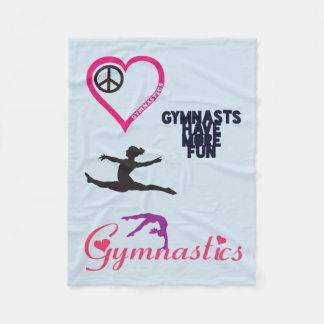 Gymnastik ist in meiner Herz-Decke Fleecedecke