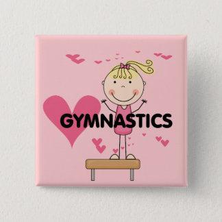 GYMNASTIK - Liebe-Gymnastik-T-Shirts und Geschenke Quadratischer Button 5,1 Cm