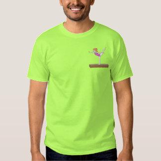 Gymnastik-Mädchen Besticktes T-Shirt
