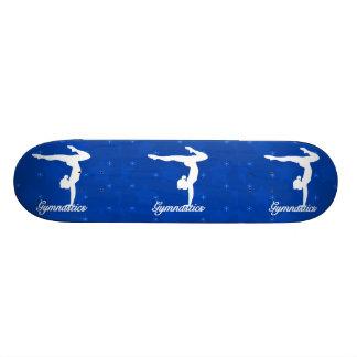 Gymnastik-Mädchen-blaue Sterne 21,6 Cm Skateboard Deck
