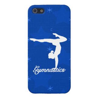 Gymnastik-Mädchen-blaue Sterne Hülle Fürs iPhone 5