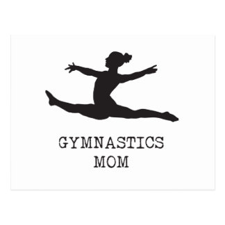 Gymnastik-Mamma Postkarte