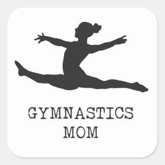 Gymnastik-Mamma Quadratischer Aufkleber