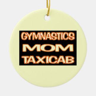 Gymnastik-Mamma-Taxi Keramik Ornament