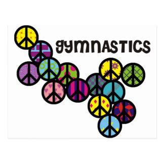 Gymnastik mit Friedenszeichen-Fülle Postkarte