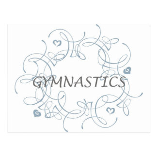 Gymnastik mit Strudel Postkarte