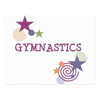 Gymnastik mit Wirblem Stern Postkarte