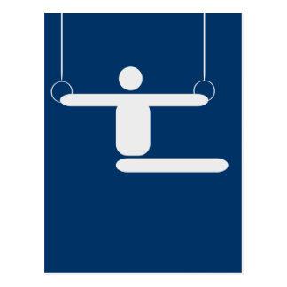 Gymnastik-Piktogramm Postkarte