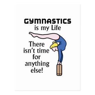Gymnastik Postkarte