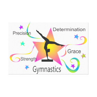 Gymnastik - Präzisions-Stärken-Entschlossenheit Leinwanddruck