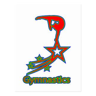 Gymnastik-Stern Postkarte