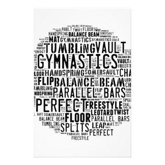 Gymnastik-Wort-Wolke Briefpapier