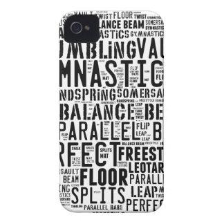 Gymnastik-Wort-Wolke iPhone 4 Hülle