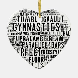 Gymnastik-Wort-Wolke Keramik Ornament