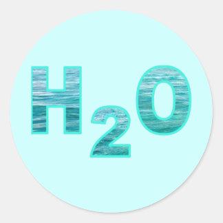 H2O RUNDER AUFKLEBER