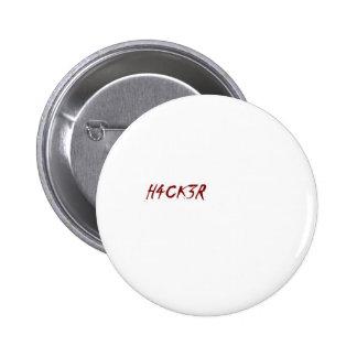 h4ck3r Hacker techie Aussenseiter Buttons