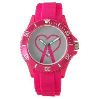 H&D rosa A~Heart Uhr