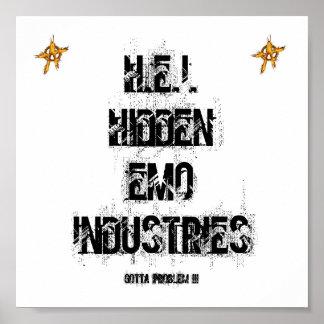H.E.I.HIDDEN EMO INDUSTRIE-PLAKAT