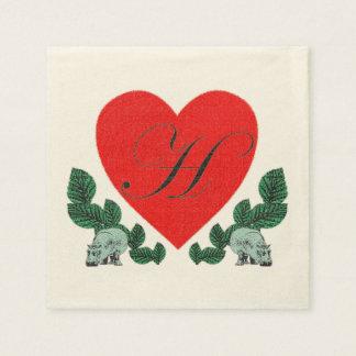 H für Flusspferde Papierserviette