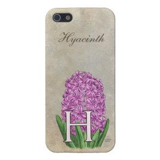 H für Hyazinthen-Blumen-Monogramm Schutzhülle Fürs iPhone 5