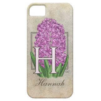 H für Hyazinthen-Blumenmonogramm iPhone 5 Hülle