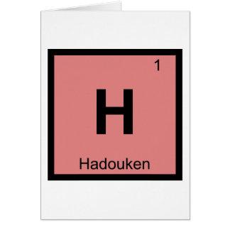 H - Hadouken Meme Chemie-Periodensystem-Symbol Grußkarte