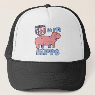 H ist für Flusspferd-Hut Truckerkappe