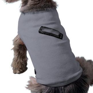 H ist für Harmonika Ärmelfreies Hunde-Shirt