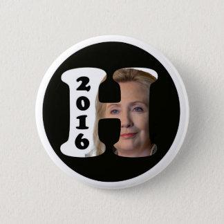 H ist für Hillary 2016 Runder Button 5,7 Cm