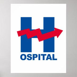 H ist für Hillary-Krankenhaus -- Wahl 2016 - Poster