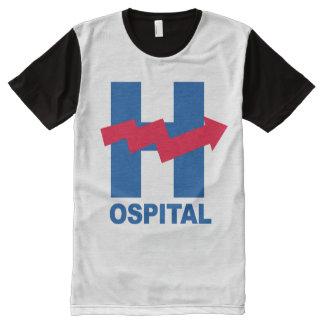 H ist für Hillary-Krankenhaus -- Wahl 2016 - T-Shirt Mit Komplett Bedruckbarer Vorderseite