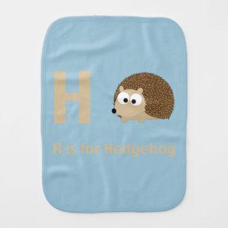 H ist für Igel Baby Spucktuch
