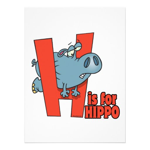 H ist für lustigen Alphabet-Cartoon des Einladungen