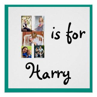 H ist für Namen Poster