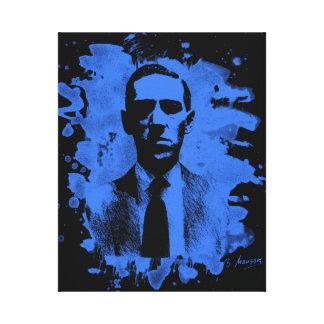 H. P. Lovecraft Tribute (blue) Leinwanddruck