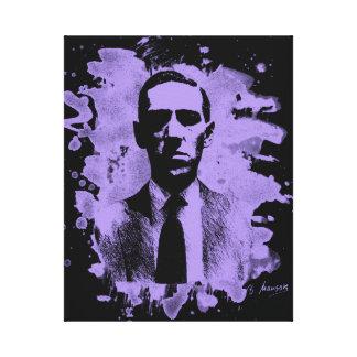 H. P. Lovecraft Tribute (violet) Leinwanddruck