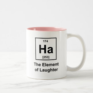 Ha, das Element des Gelächters Zweifarbige Tasse